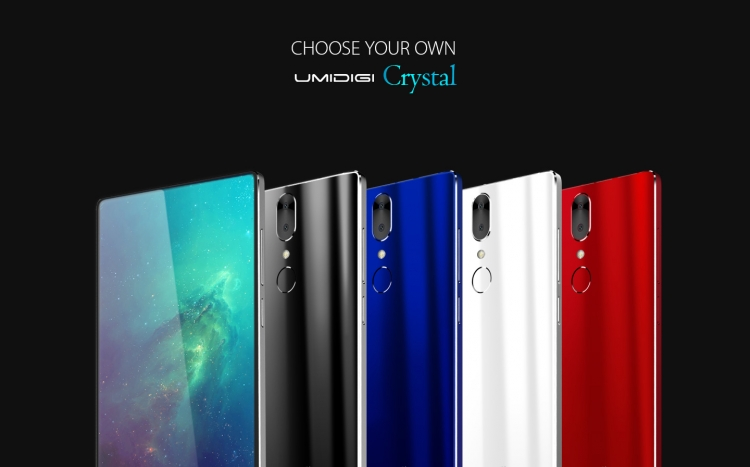 UMIDIGI предлагает мощный безрамочный смартфон Crystal за $99