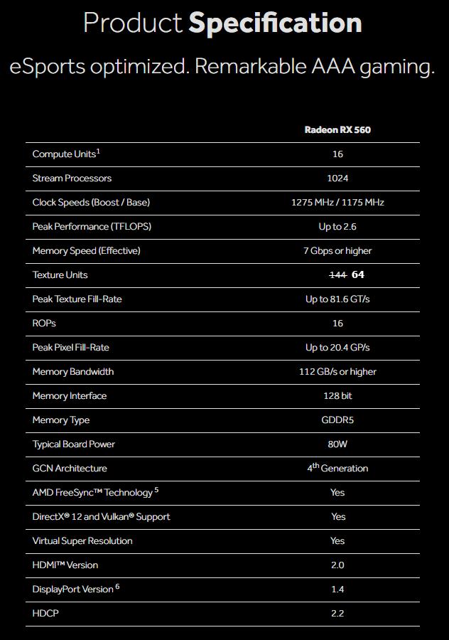 Видеокарта Radeon RX 560