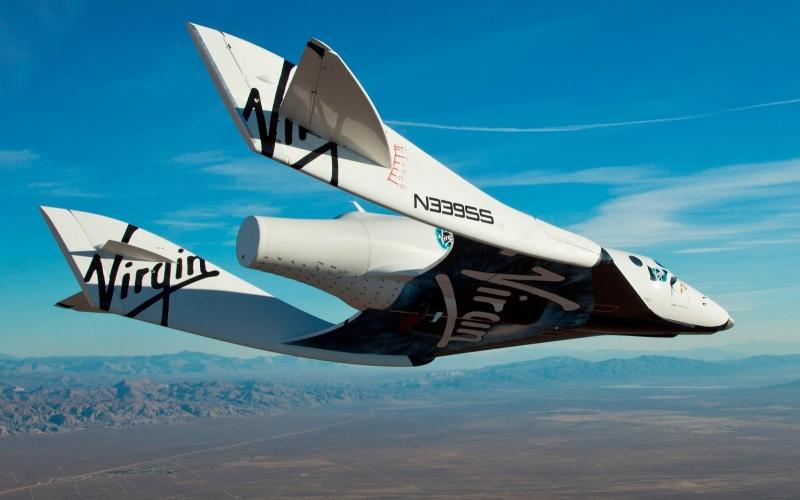 Горизонтальные лётные (планирующие) испытания ракетоплана SpaceShipTwo. Фото Virgin Galactic