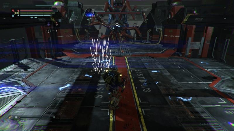 В одной из битв с боссом пол наэлектризован и наносит небольшой, но постоянный урон. Но если присмотреться, можно догадаться, как облегчить себе жизнь