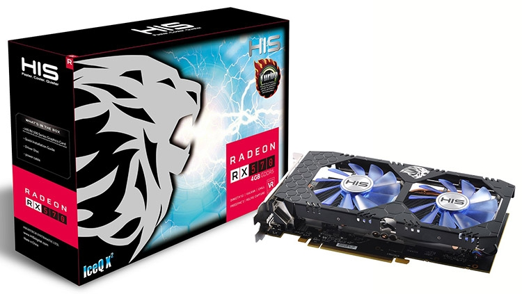 HIS RX 570 IceQ X² Turbo 4GB