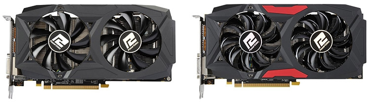 PowerColor Radeon RX 580 Red Dragon V2 OC и Radeon RX 580 Red Dragon OC (справа)