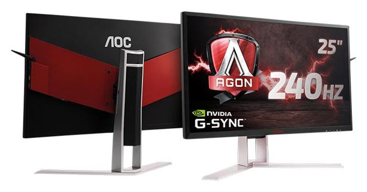 Монитор AOC Agon AG251FG для игровых систем обладает поддержкой NVIDIA G-Sync - «Новости сети»