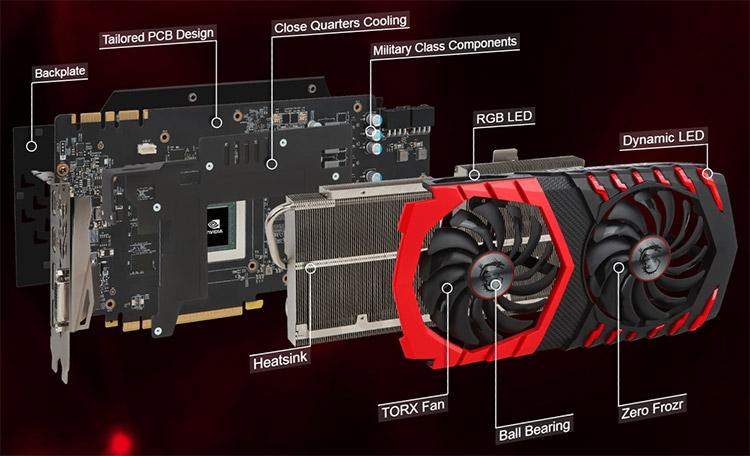 Детали строения актуального продукта MSI GeForce GTX 1080 Ti Gaming X 11G