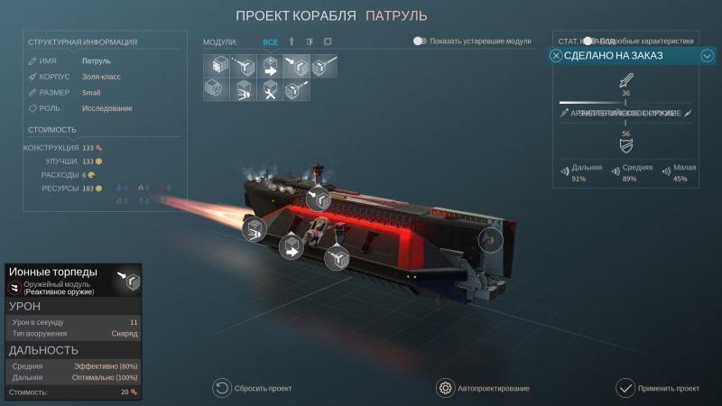 Модернизация кораблей оказалась не самым интересным элементом игры