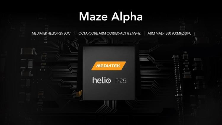 Maze Alpha: безрамочный смартфон с чипом Helio P25 - «Новости сети»