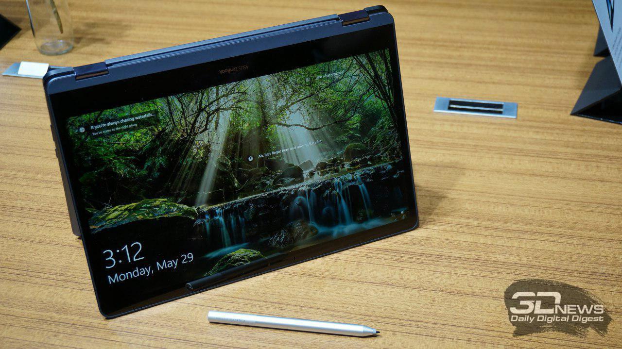 Компания Asus представила тонкий ноутбук-перевертыш