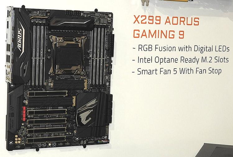 Подсветка RGB Fusion поможет Gigabyte X299 Aorus Gaming 9 заиграть красками