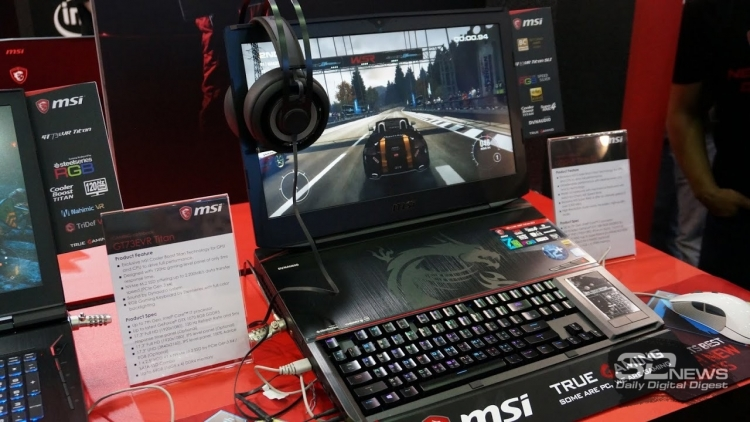 Computex 2017: мощный игровой ноутбук MSI GT83VR Titan SLI, а также MSI GE63VR и GE73VR Raider с дизайном в духе автогонок