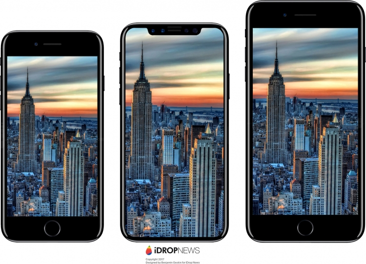 Сравнение размеров iPhone 7, iPhone 8 и iPhone 7 Plus