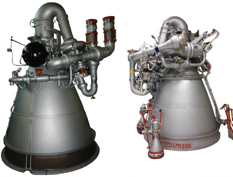 Двигатели второй и третьей ступеней ракеты-носителя «Протон-М». Фото ВМЗ