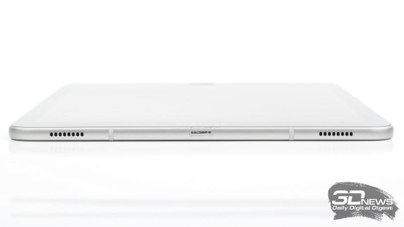 Samsung Galaxy Tab S3, верхняя грань: два динамика