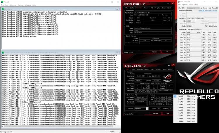 Разгон скальпированного Core i9-7900X до 5,0 ГГц