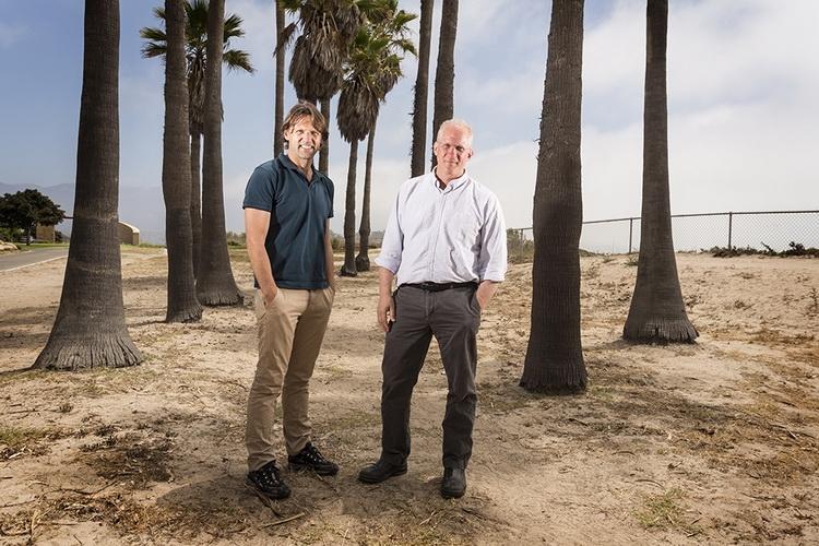 Лео Коувенховен слева и Чарлз Маркус справа (фото Brian Smale)