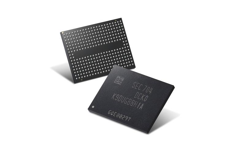 Микросхемы 64-layer 256Gb V-NAND (Samsung)