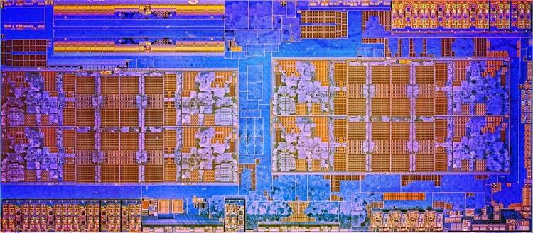 Сборка из двух AMD CCX делит общий контроллер памяти