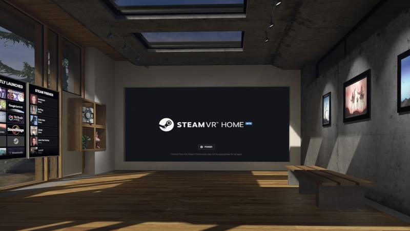 Заработанные в играх 3D-предметы можно разместить в гостиной SteamVR Home