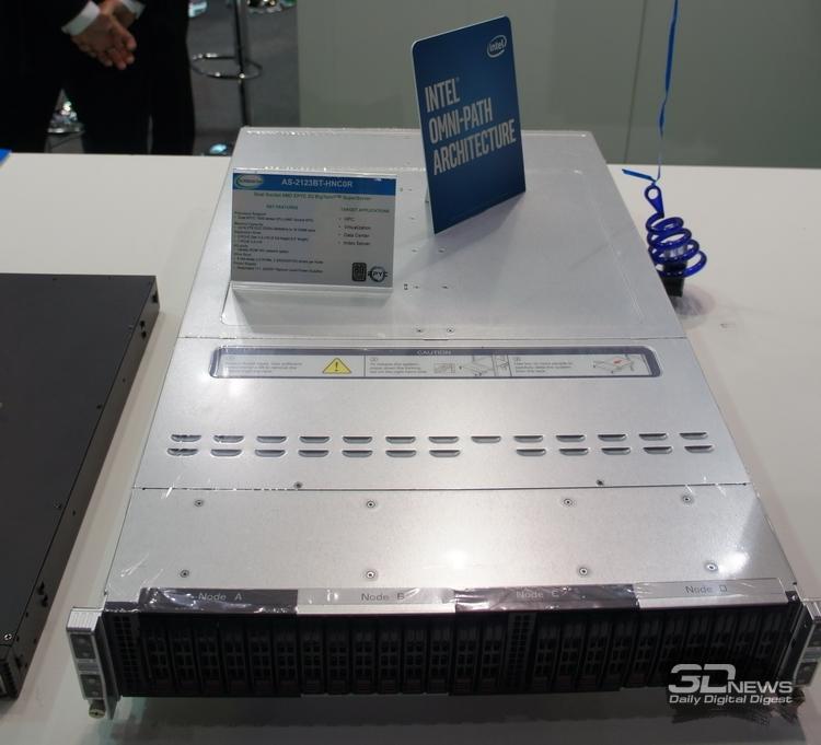 Сервер на базе AMD EPYC мирно уживается с рекламой Intel Omni-Path