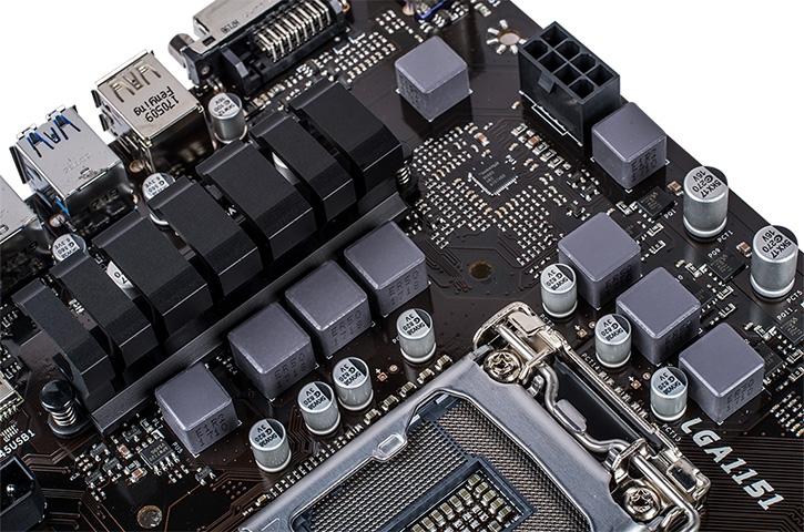 На процессорный разъём приходятся 6–7 фаз питания