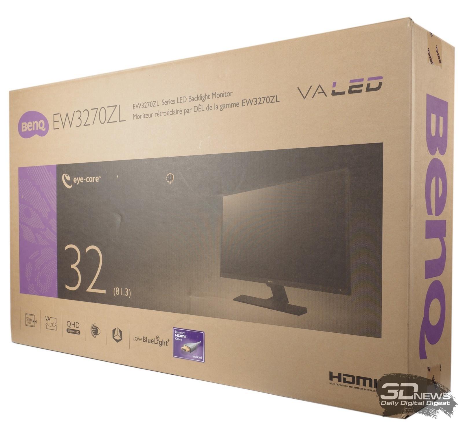 Новая статья: Обзор WQHD-монитора BenQ EW3270ZL: комфорт во всём