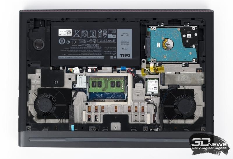 Dell Inspiron 7567 в полуразобранном состоянии