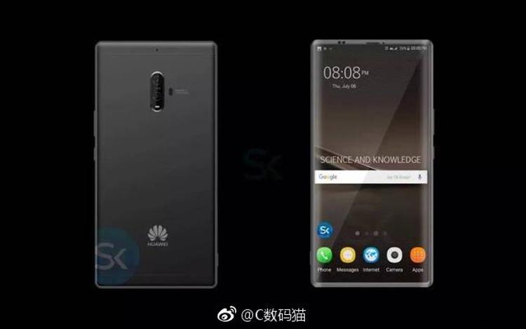 Рендеры раскрыли предполагаемый дизайн мощного фаблета Huawei Mate 10