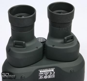 Регулировка окуляров бинокля Canon 12x36 IS III