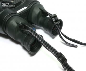 Кольцо фокусировки, кнопка стабилизатора и петли для крепления шейного ремня