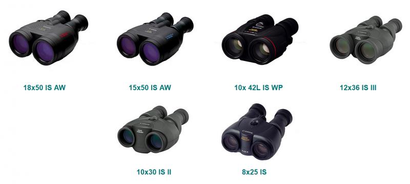Модельный ряд биноклей Canon