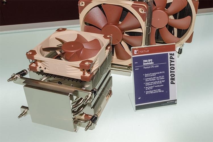 Прототип кулера Noctua для AMD Ryzen Threadripper c увеличенным основанием