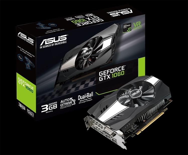 ASUS выпустила видеокарту GeForce GTX 1060 Phoenix для компактных ПК