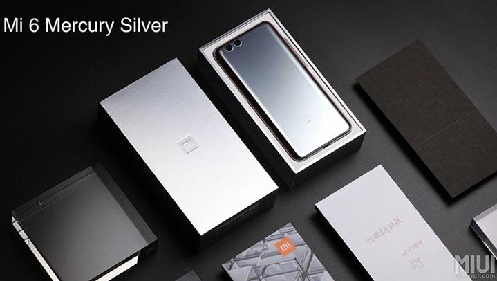 Корпус Xiaomi Mi 6 в отделке Mercury Silver может выполнять роль зеркальца