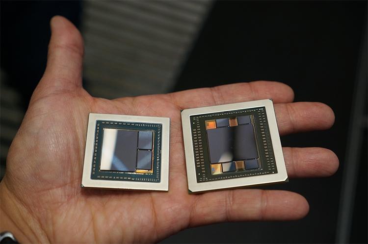 Слева - Vega 10; справа - Fuji