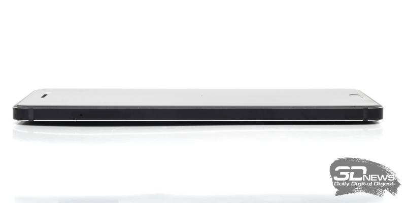 Nokia 6, левая грань: слот для SIM-карт и/или карты памяти microSD