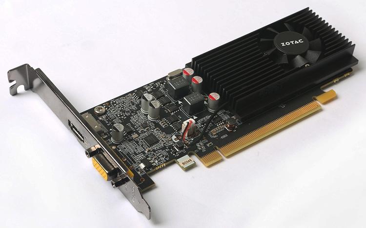 Обе новые карты ZOTAC GeForce GT 1030 выполнены на низкопрофильных платах