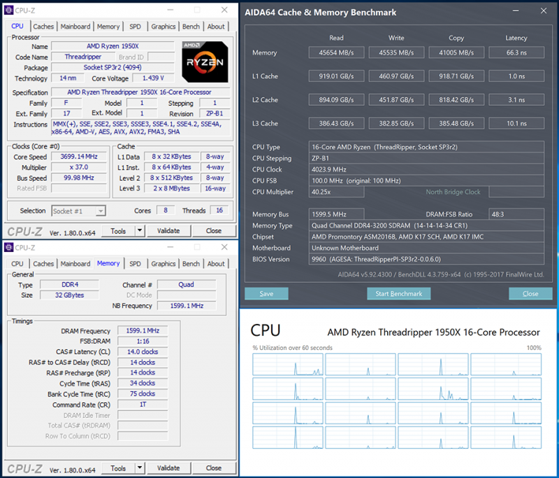 AMD Ryzen Threadripper 1950X в игровом режиме