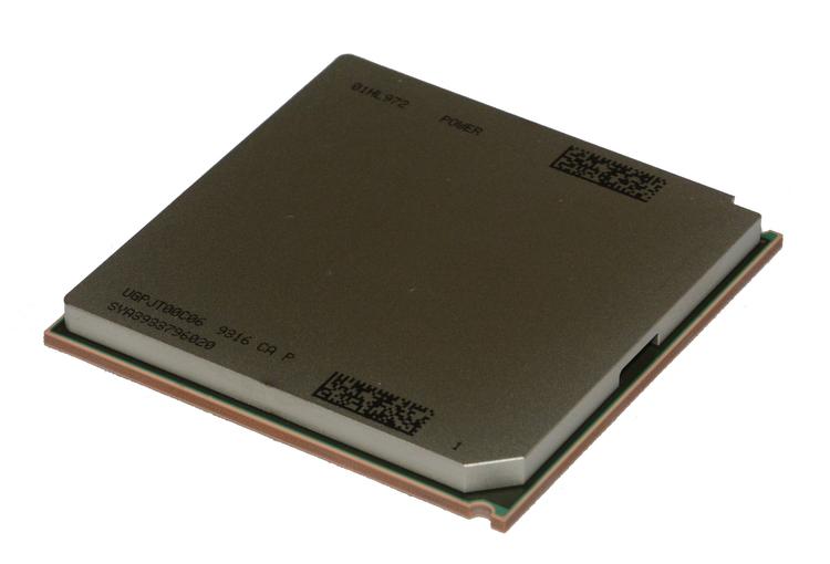 Процессор крупным планом. 4 ядра, 16 потоков. Частота неизвестна.