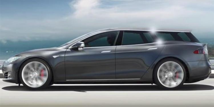 """В Европе может появиться универсал на базе электромобиля Tesla Model S"""""""