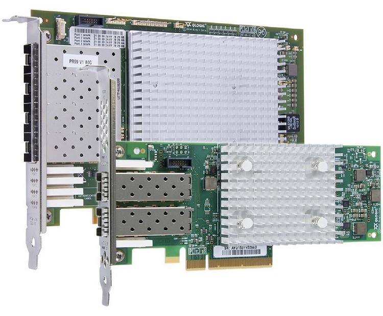 Адаптеры QLogic 2700 (поколение 6.1, 3200 Мбайт/с)
