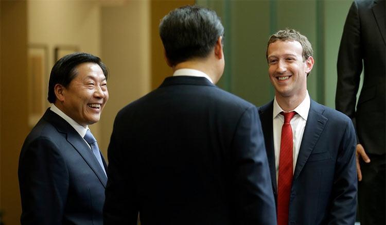 Марк Цукерберг на встрече с президентом Си Цзиньпинем в 2015 году