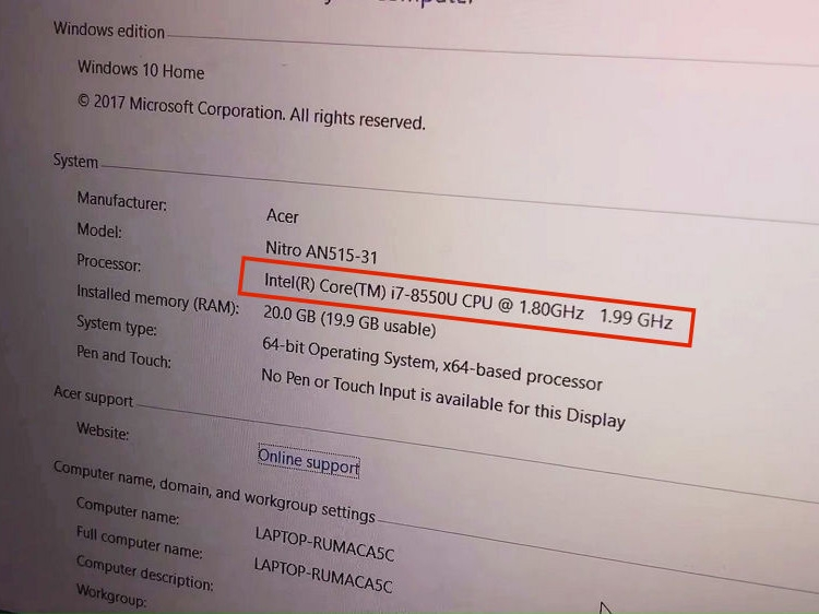 Acer Nitro 5 (AN515-31)
