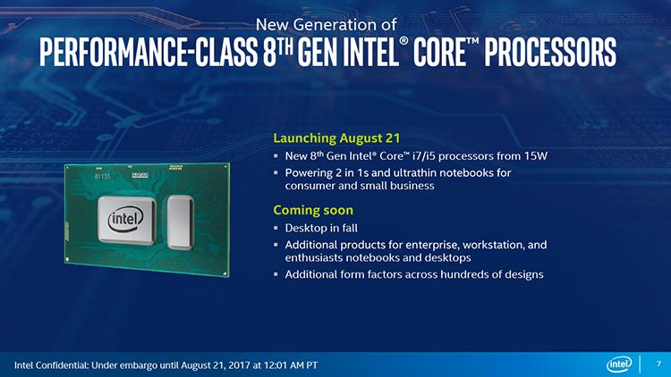 FINAL 7 - Intel Core восьмого поколения увеличивают производительность ультрабуков на 40 процентов