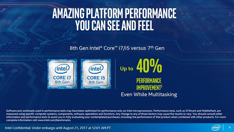 FINAL 8 - Intel Core восьмого поколения увеличивают производительность ультрабуков на 40 процентов