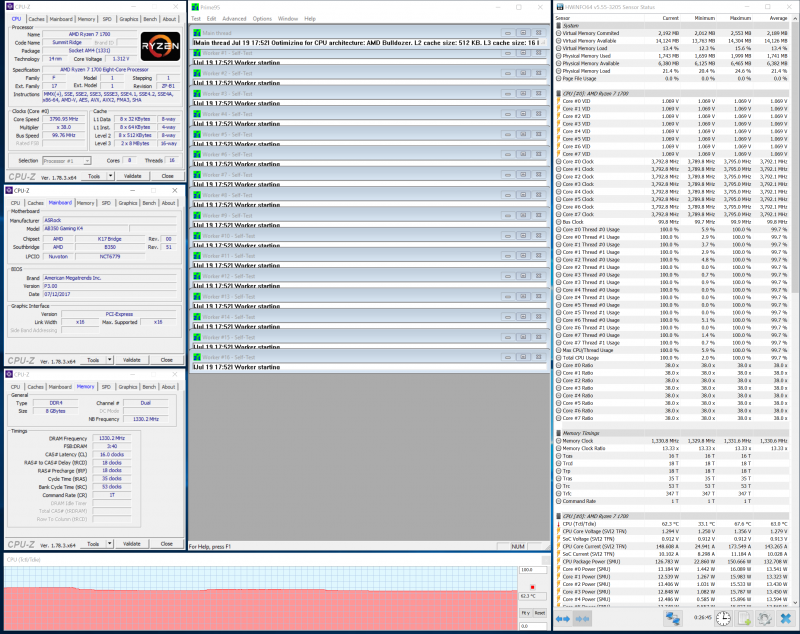 Разгон процессора при помощи ASRock Fatal1ty AB350 Gaming K4