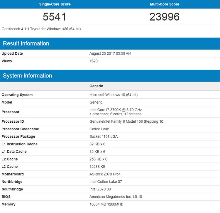851 1 - Новые результаты тестирования процессоров Coffee Lake-S