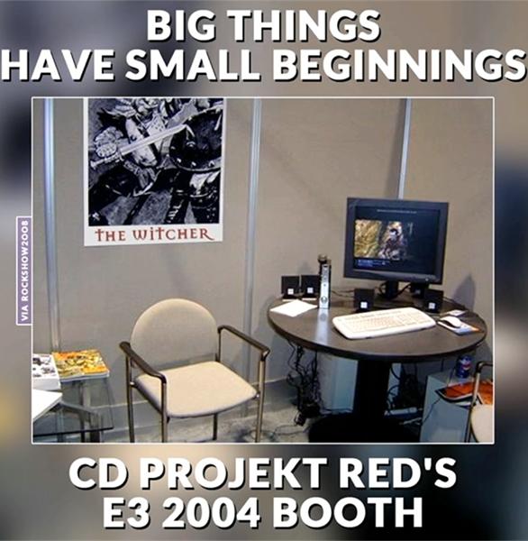 Павильон CD Projekt RED на выставке Е3 2004
