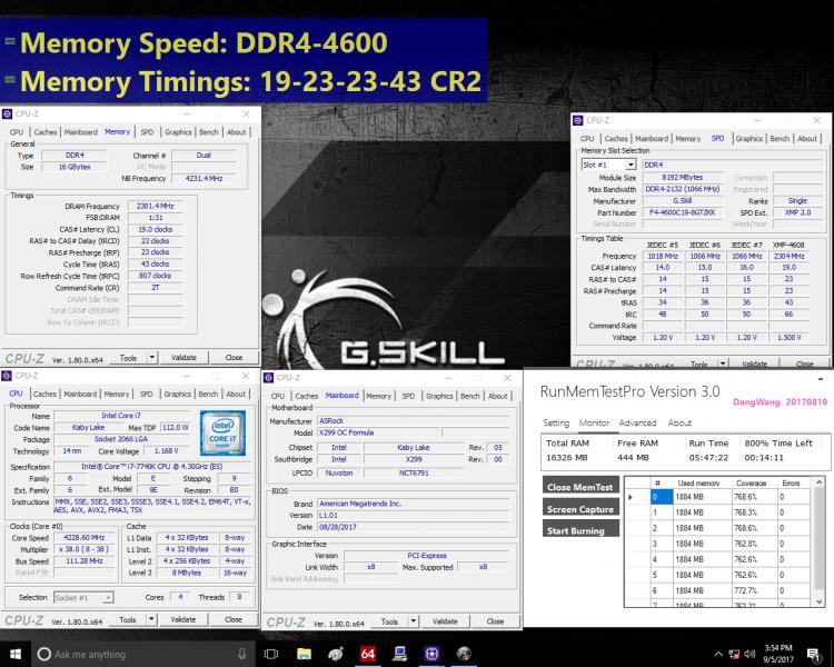 Результаты испытаний модулей памяти G.Skill Trident Z DDR4-4600