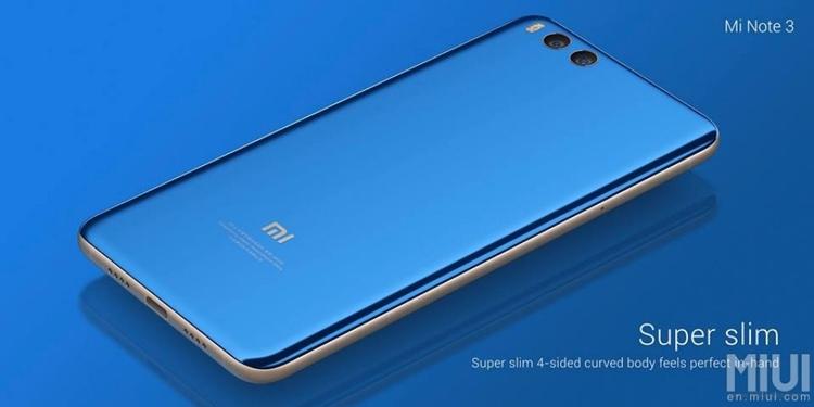 "Анонс Xiaomi Mi Note 3: почти как Mi 6, но крупнее"""