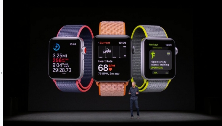 Смарт-часы Apple Watch Series 3 выглядят ровно так же, как Apple Watch  Series 2, за исключением метки в виде красного круга на колёсике Digital  Crown у ... b366d9dc83a
