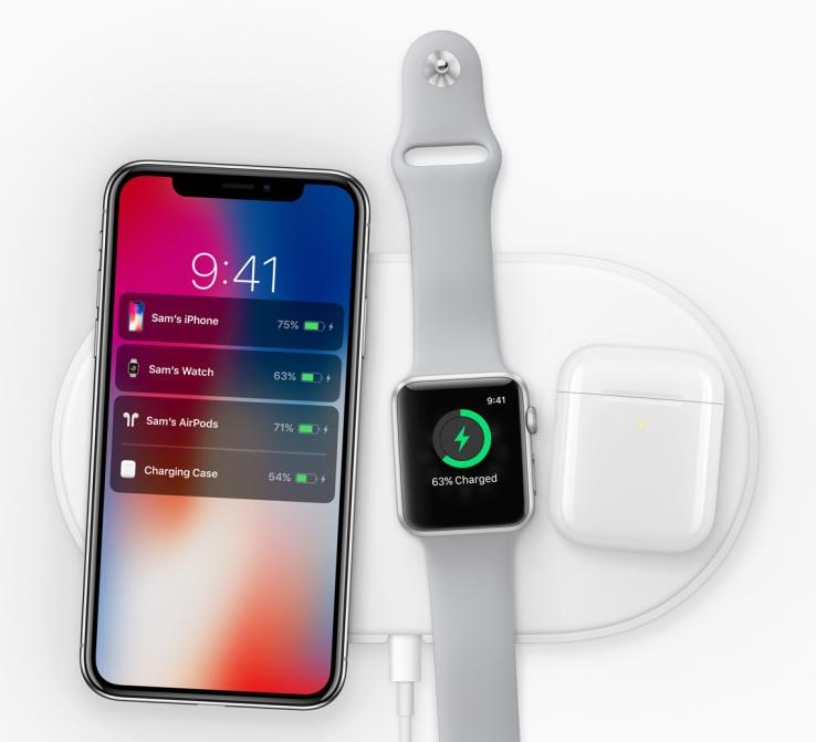 """Беспроводное зарядное устройство Apple AirPower способно заряжать сразу 3 гаджета одновременно"""""""